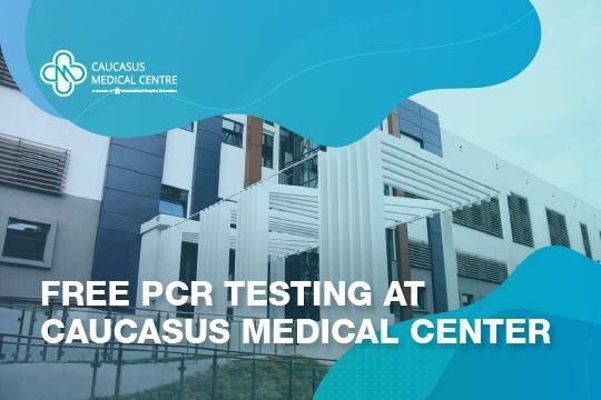 Free PCR testing at Caucasus Medical Center