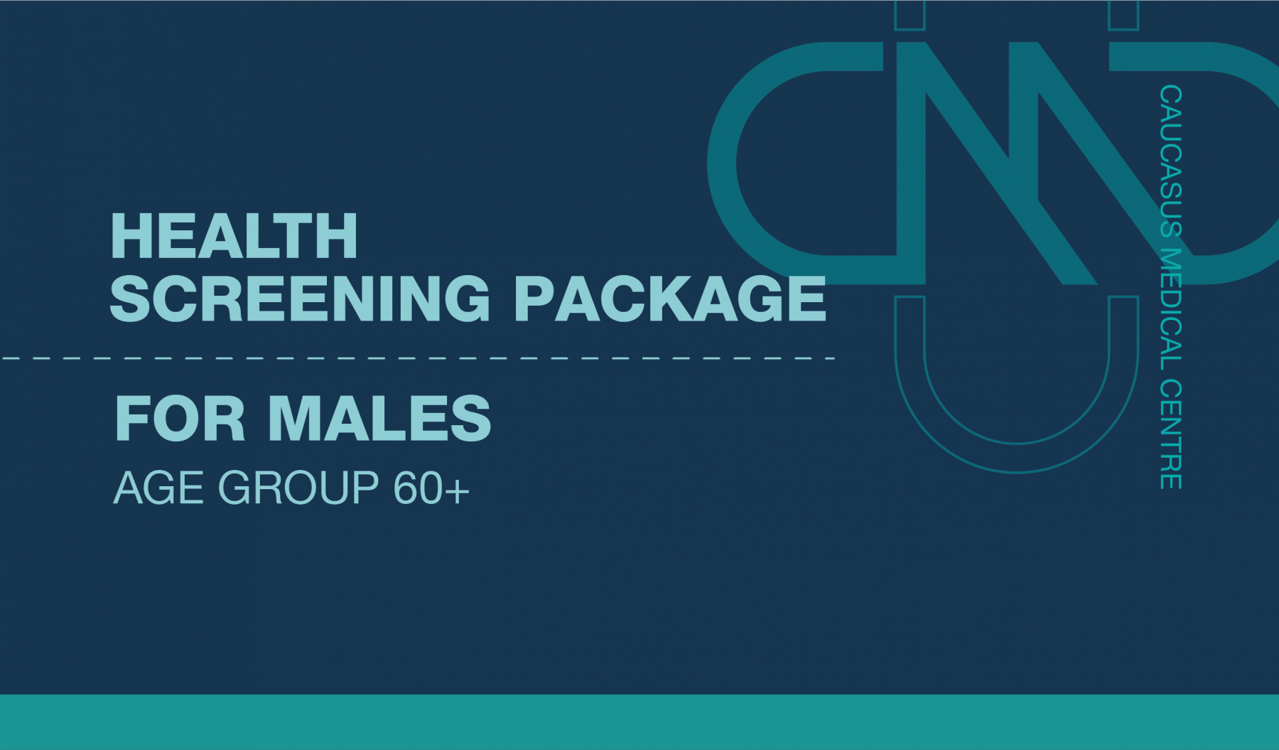 PREMIUM HEALTH SCREENING PACKAGE FOR MALES 60 AND OLDER