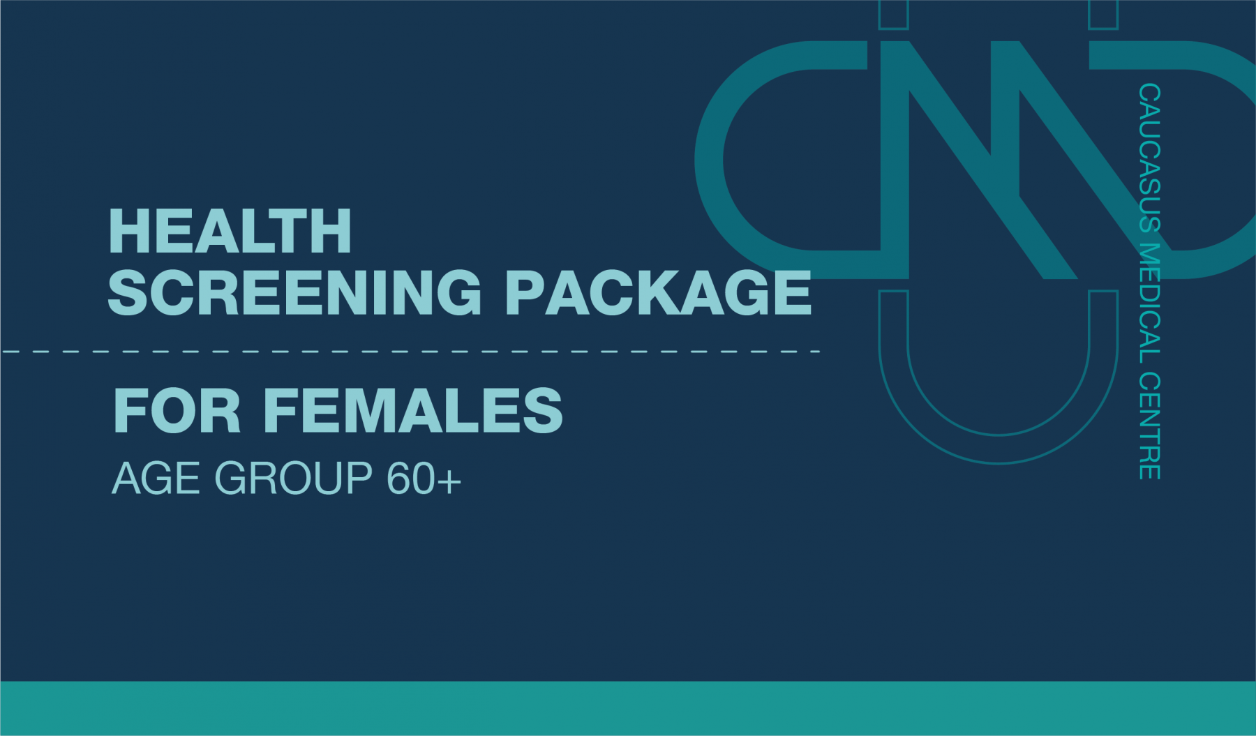 PREMIUM HEALTH SCREENING PACKAGE FOR FEMALES 60 AND OLDER