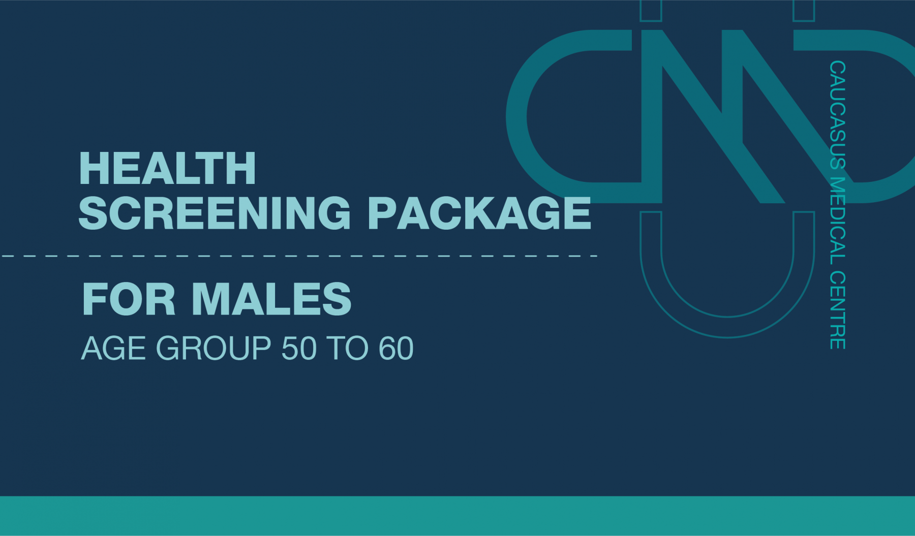 PREMIUM HEALTH SCREENING PACKAGE FOR MALES AGE GROUP 50 TO 60