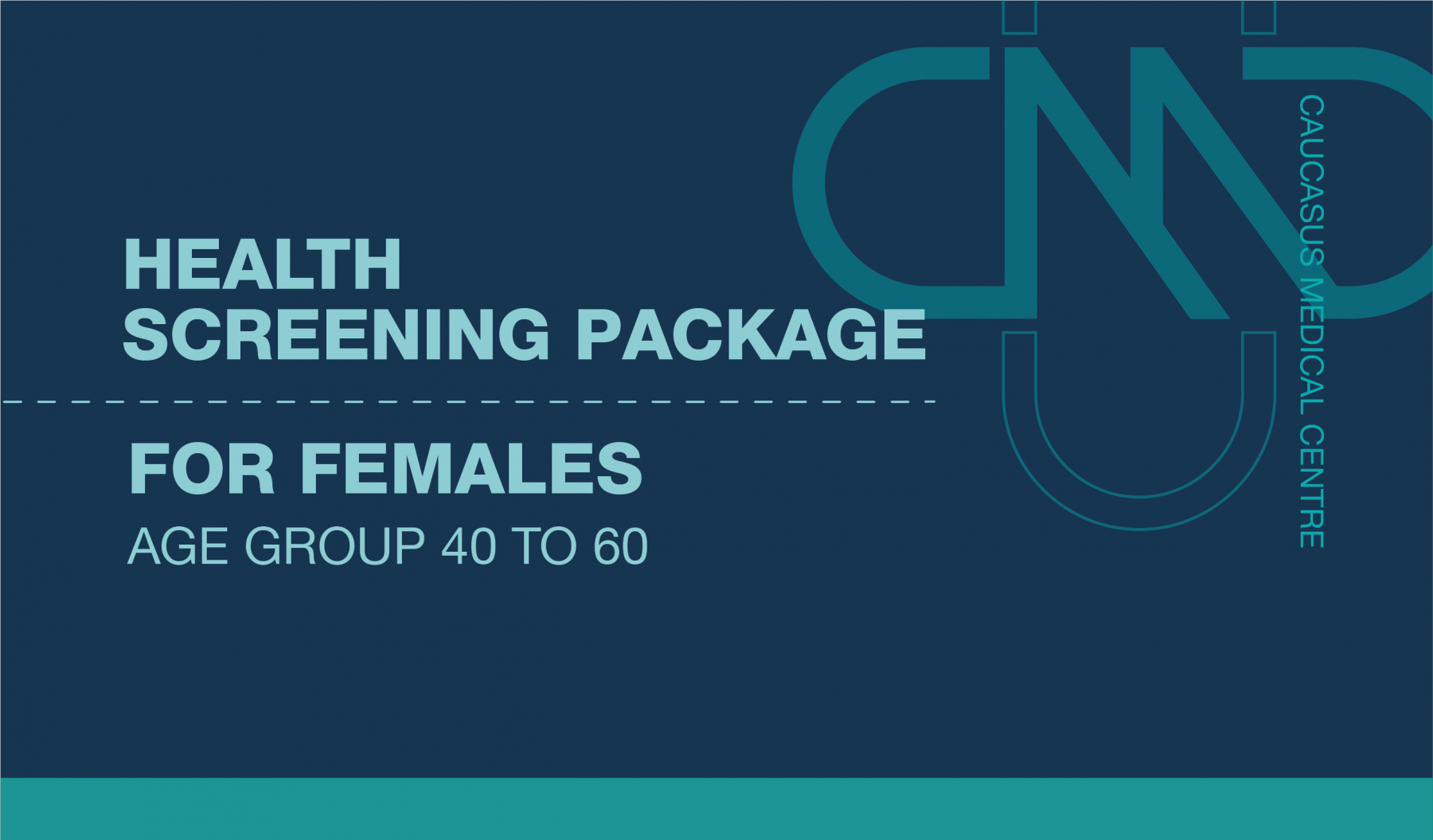 PREMIUM HEALTH SCREENING PACKAGE FOR FEMALES AGE GROUP 40 TO 60