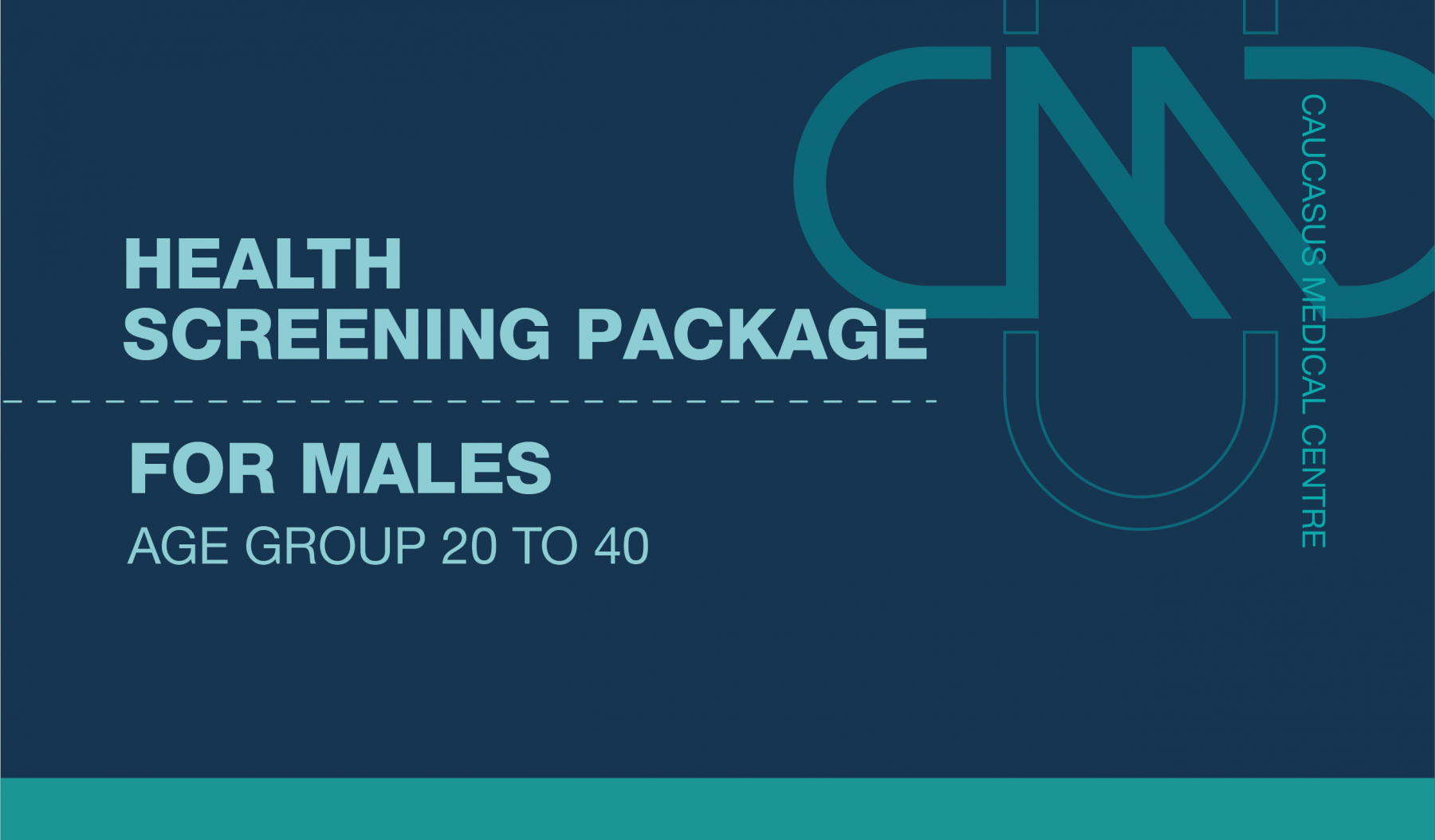 PREMIUM HEALTH SCREENING PACKAGE FOR MALES AGE GROUP 20 TO 40